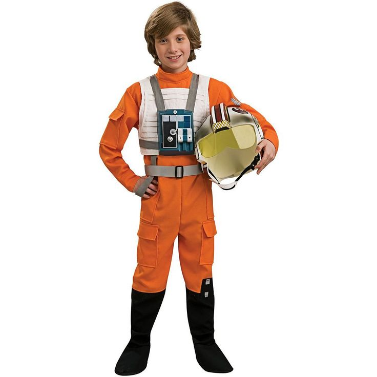 Star Wars Clone X-Wing Fighter Pilot Costume - Kids, Boy's, Size: Large, Multicolor
