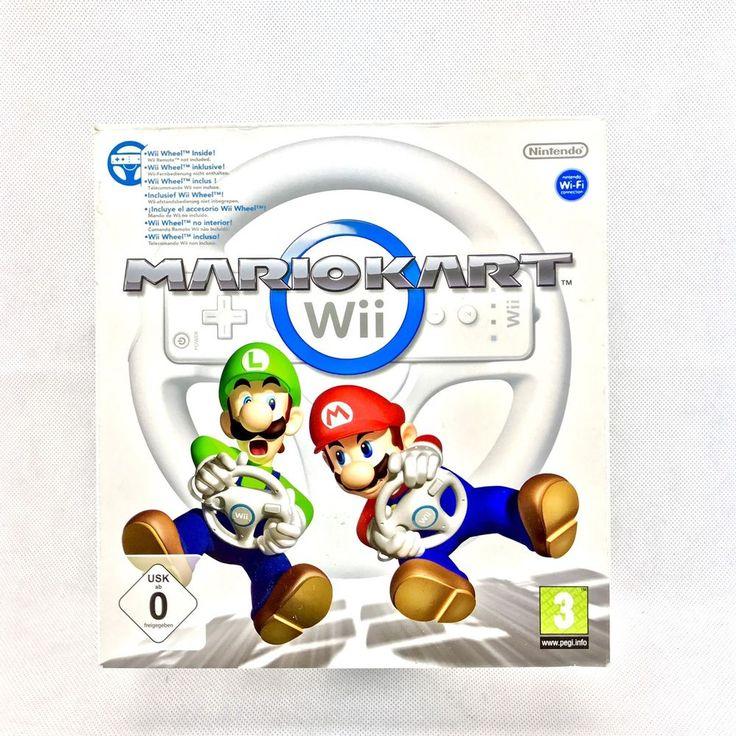 Wii Accessories Mariokart Steering Wheel New Boxed Not Sealed mario kart