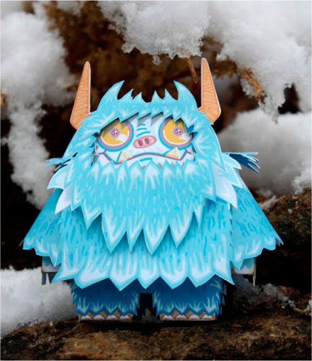 Blog_Paper_Toy_papertoy_Neddy_the_Yeti_pic1