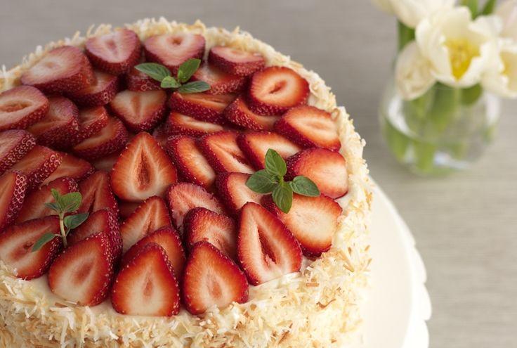 Strawberry Coconut Cake www.driscolls.com