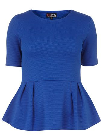 Royal blue blister peplum top - Tops & T-Shirts  - Clothing
