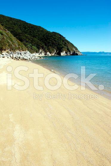 Whariwharangi Seascape, Abel Tasman National Park, New Zealand royalty-free stock photo
