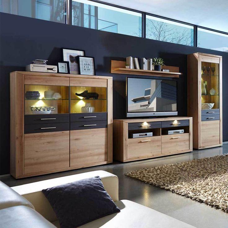 Good TV Anbauwand in Buche Grau modern teilig Jetzt bestellen unter https moebel ladendirekt de wohnzimmer tv hifi moebel tv waende uid udd cee