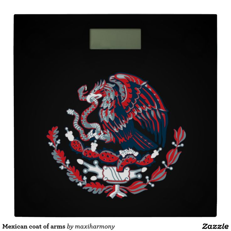 Mexican coat of arms bathroom scale