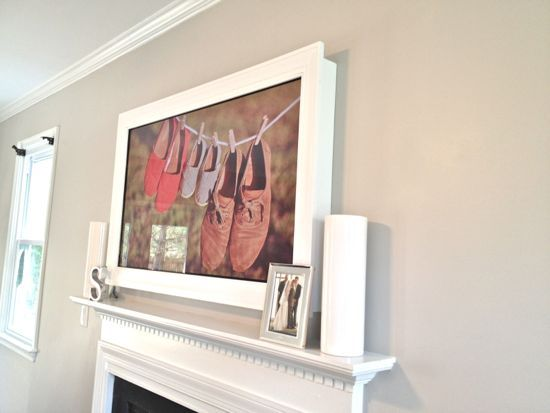 DIY TV Frame: Disguise that Flat Screen!  Definitely doing this once TV makes it to the wall.