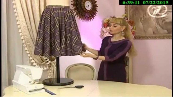 Как сшить юбку - солнце с одним швом. Ольга Никишичева.