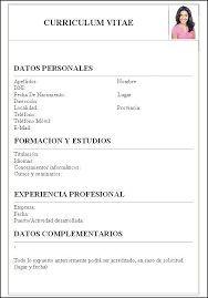 Curriculum Vitae Para Llenar