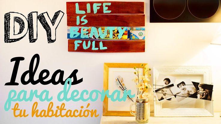 Diy decora tu cuarto habitacion room decorating ideas - Decora tu habitacion online ...