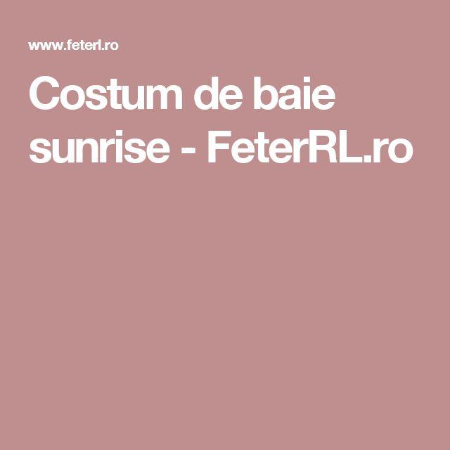 Costum de baie sunrise - FeterRL.ro