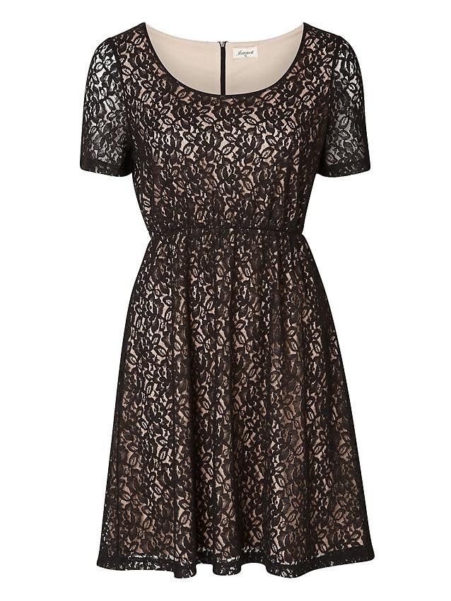'Gisele' Contrast Lace Dress -