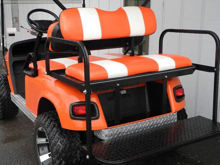 Custom Golf Cart Headlights : This e z go txt is decked out with lift kit premium