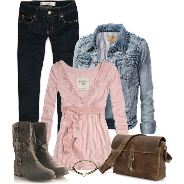 """""""Denim, Leather, and Metal"""" by debbie-probst on Polyvore"""