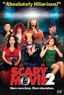 Scary Movie 2-  Four teens are tricked by their professor into visiting a haunted house for a school project.