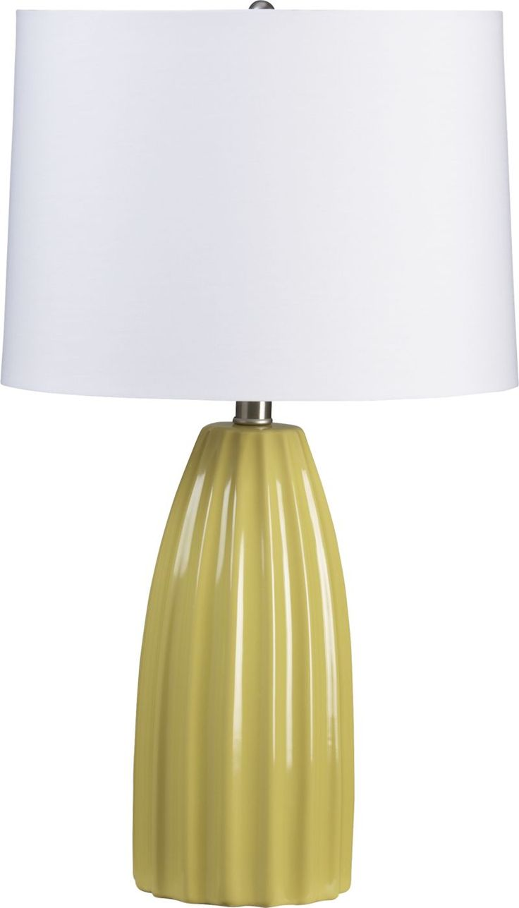 Nighstand lamp contender. Either this color, or white. | Ella Yellow Ceramic Table Lamp