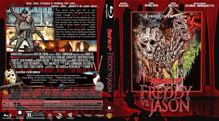 Friday The 13th Part 11-Freddy vs Jason  Blu-ray Custom Cover