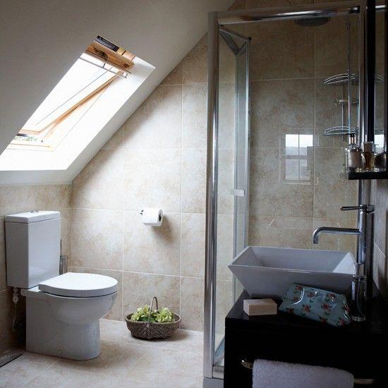 Attic en-suite bathroom | Bathroom idea | Skylight | Image | Housetohome.co.uk