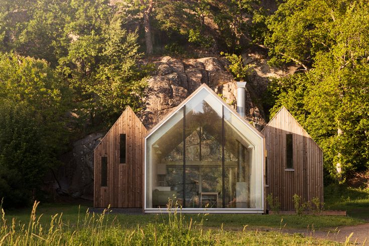 Interconnected micro cluster cabins, Oslo, Norway by Reiulf Ramstad Architects