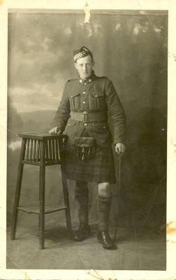"Photographic print, Antigonish Heritage Museum. 1916. Angus Stephen ""A S Dux"" MacKenzie of the 85th Battalion"
