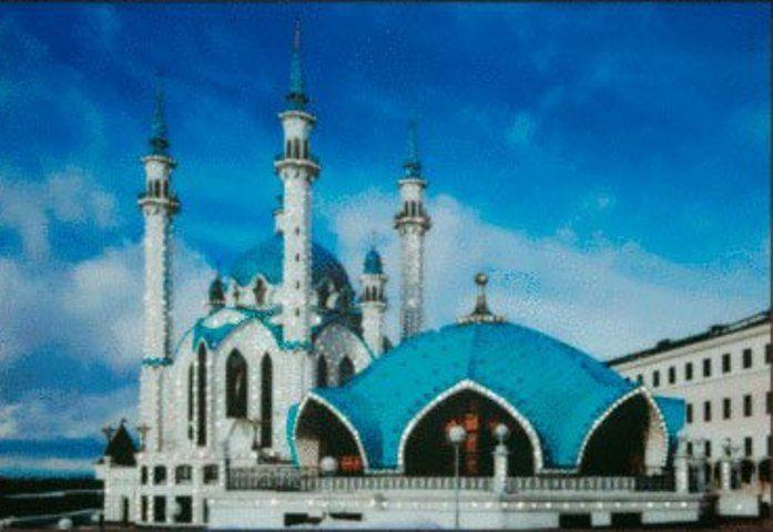 """Картина со стразами """"Мечеть Кул Шариф""""  Размер 30 х 42 см  ✏️Комплектация набора:   основа - стекло полистирол с нанесённым рисунком;   стразы (Чехия, Preciosa);   клей;   карандаш-аппликатор для установки страз;   рамка;   инструкция.  Каталог сюжетов """"Архитектура"""", """"Мечети"""".  #мечеть #мечетькулшариф #стразы #картинастразами #алмазнаямозаика #чаривнамить #творчество #скидка #umkas"""
