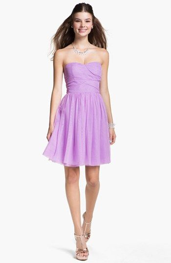 En Crème Chiffon Skater Dress (Juniors) available at #Nordstrom @Nicole Nguyen Hoang pick from this or the blue