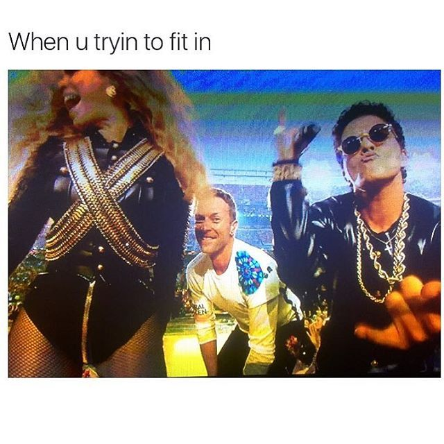 Pin for Later: 9 of the Most Hilariously Memorable Memes From the Super Bowl Of course, everyone was super into Beyoncé and Bruno Mars more than Coldplay. To be fair, she totally killed her performance.