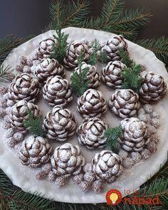 Zasnežené šišky bez varenia, bez pečenia: Nikdy v živote som na stole nevidela krajšie vianočné pohostenie!