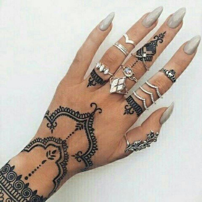 80 tatuajes de henna que querrás probar. #tatoo #tatuaje #henna