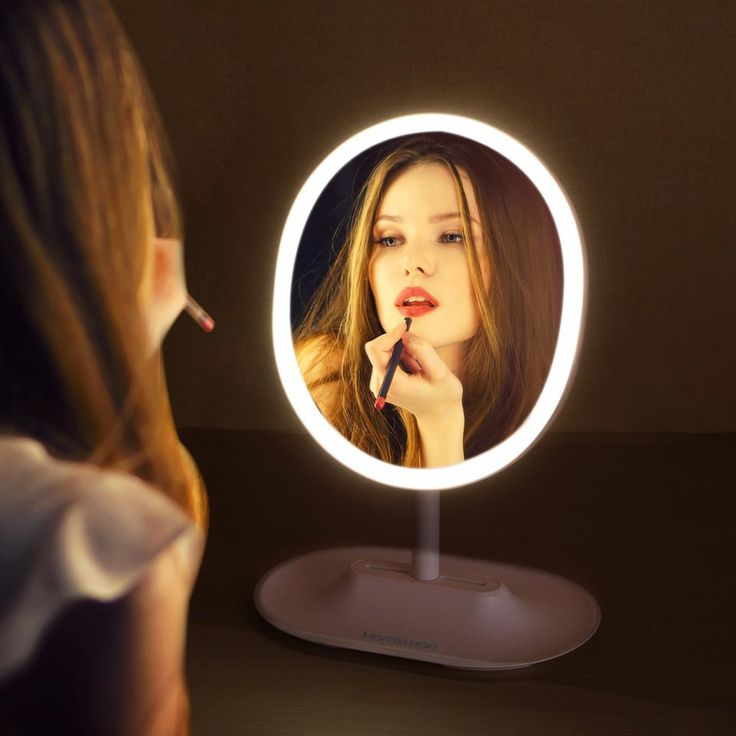 #Hamswan – RM223  #Specchio Ovale con led regolabile, specchio #MakeUp