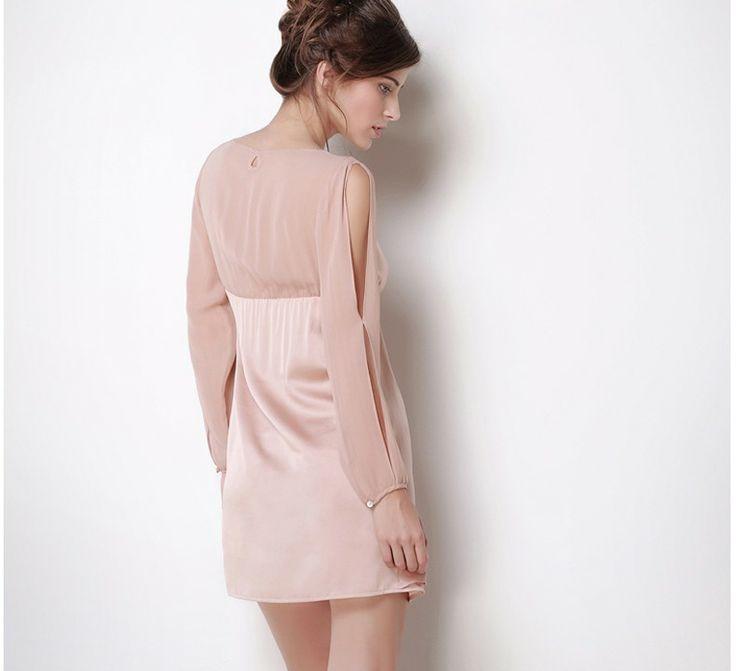 Elegant Splicing  Lounge Dress,$145.58