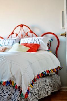 Rainbow tassel bedding | Interiors | Pinterest | Tassels, Home and ...