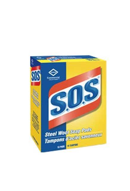 Tampons savonneux en laine d'acier S.O.S