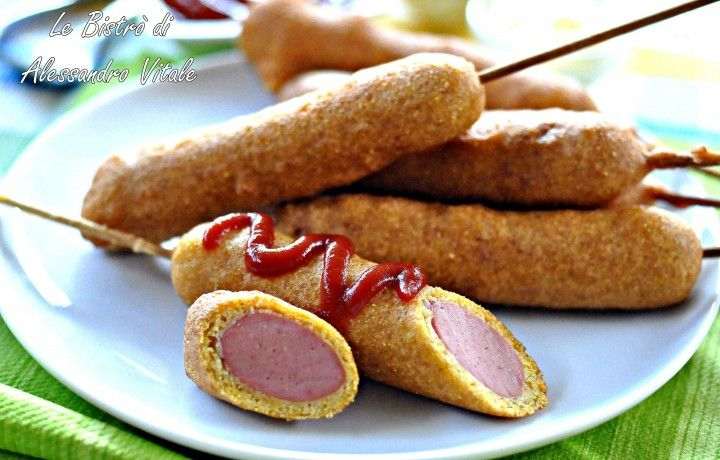 Corn dogs, finger food