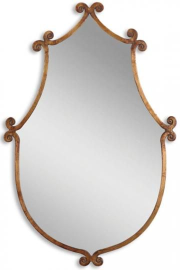 .: Mirror Mirror, Gold Mirror, Wall Mirror, Mirror Wall, Master Bath, Leed Mirror, Antiques Gold, Design Home, Powder Rooms