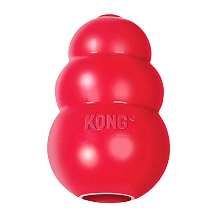 KONG Classic Dog Toy, Hide Food, KONG Classic Kong Dog Toy, Dog Toys, Red, Large #KONG