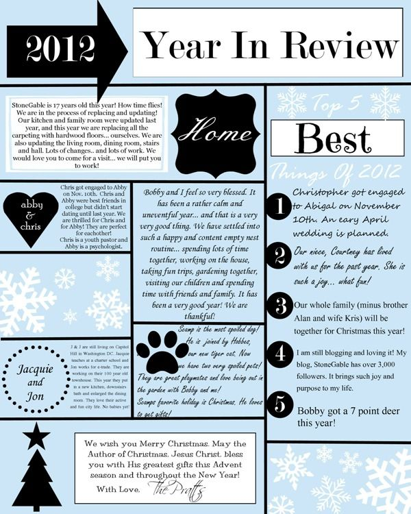 8 best christmas letter and card images on pinterest christmas a year in review christmas letter and template cheaphphosting Images