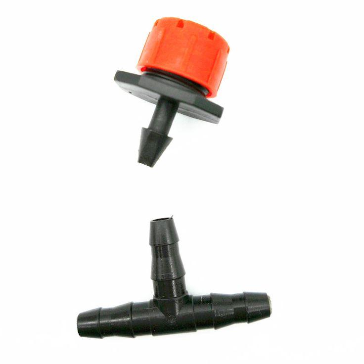 100セット(200ピース)卸売8穴ノズル点滴接続リンク冷却機器ガーデン施設点滴灌漑システム