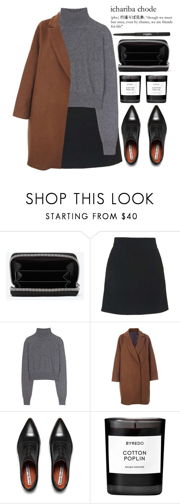 """""""ichariba chode"""" by evangeline-lily ❤ liked on Polyvore featuring moda, Yves Saint Laurent, Topshop, T By Alexander Wang, Acne Studios, Byredo y Chanel"""