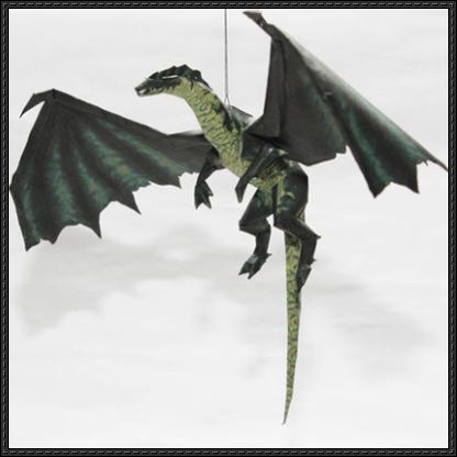 This papercraft is a Green Dragon, from the action-adventure computer game series Drakan, the paper model is created by Metalfist. You can download this pa