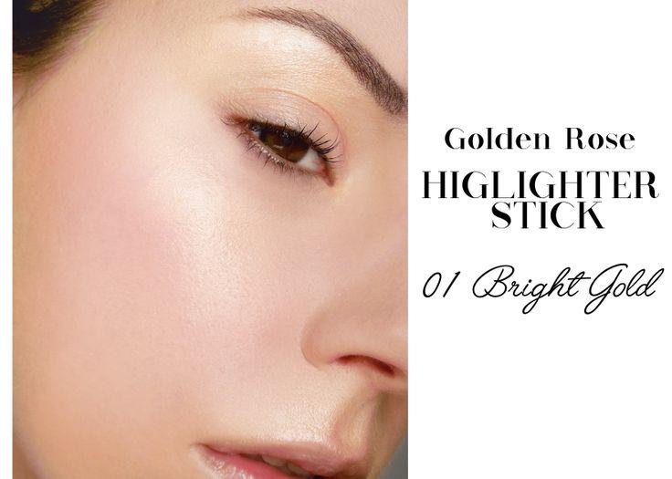 Strobing z rozświetlaczem w sztyfcie Golden Rose. Znaleziono:  http://kosme-tiki.blogspot.com/2016/03/strobing-tutorial-kosmetyki-do-strobingu.html