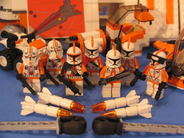 Star Wars Lego® Brick Custom Clone Wars 212th Legion Orange Republic Gunship | eBay