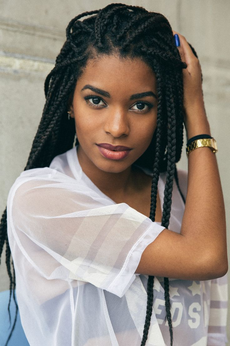 black girl, box braids, afro hairstyle, hair, black womens, inspiration http://www.shorthaircutsforblackwomen.com/natural_hair-products/