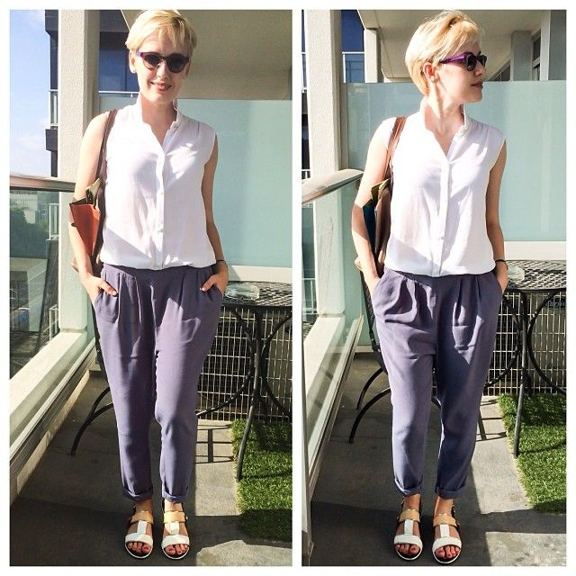 Сегодня днем☀️Комбинезон @i_ll_be_back, обувь Kenzo, сумка Etro, очки Anne et Valentine