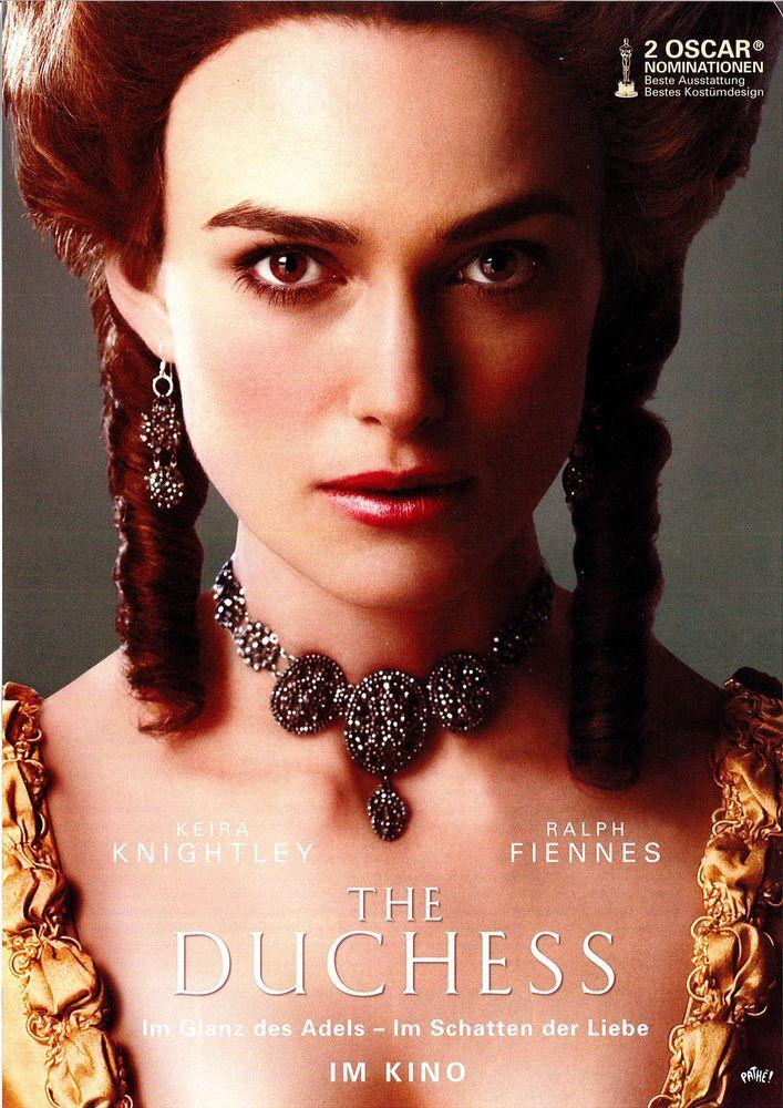 THE DUCHESS - KEIRA KNIGHTLEY - RAPH FIENNES - 2008 - FILMPOSTER A4