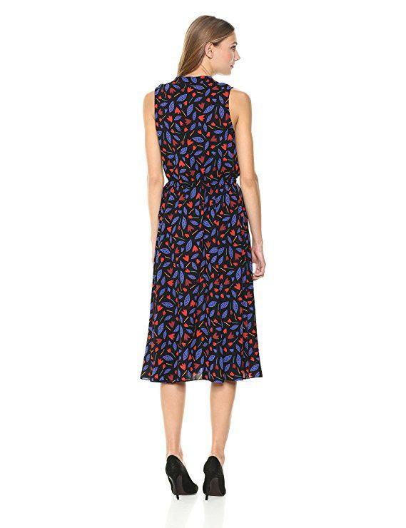 cf0071133a9 Anne Klein Women s Drawstring Midi Dress at Amazon Women s Clothing store