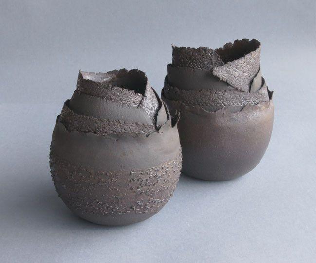 pots coquilles - Jeanne-Sarah Bellaiche, Céramiste. Création de céramiques contemporaines en Bretagne.