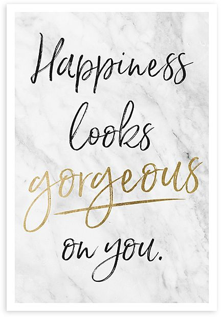 'Happiness Looks Gorgeous on You' Art Print. Personalize your space with statement style courtesy of this high-definition piece printed on premium photo paper. #ad
