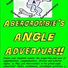 """Abercrombie's Angle Adventure (also known as """"Angles Untangled"""") focuses on supplementary and complementary angles and interior and exterior angles of polygons.  Students are introduced to Abercrombie, the skateboarder, who takes them along as he sees what he can discover about angles.  The product is composed of 40 pages, which contain nine different common core aligned activities, culminated by a unit assessment.  Everything you need for your students to master middle school angle…"""