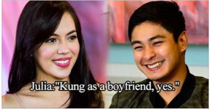 Kung as a boyfriend yes.  Julia Montes on Coco Martin as the perfect boyfriend