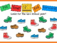 Put-Your-Best-Foot-Forward-BBI-- goals for the new school year: Schools Bulletin Boards, Back To Schools, Motivation Bulletin Boards, Beginnings Schools, Foot Forward, Teaching Ideas, Art Bulletin Boards, Classroom Ideas, Boards Ideas