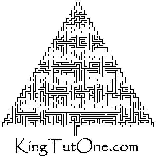 Ancient Egypt Pyramid Maze - Kids - King Tut http://One.com